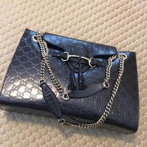 Gucci large handbag Guccissima
